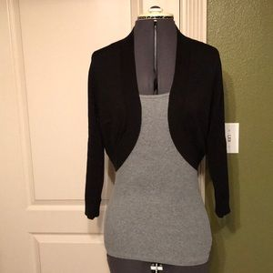 LOFT Black Crop Cardigan